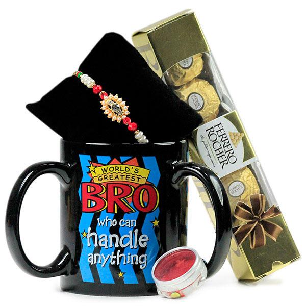 Worlds Greatest Bro Mug n Rakhi Hamper