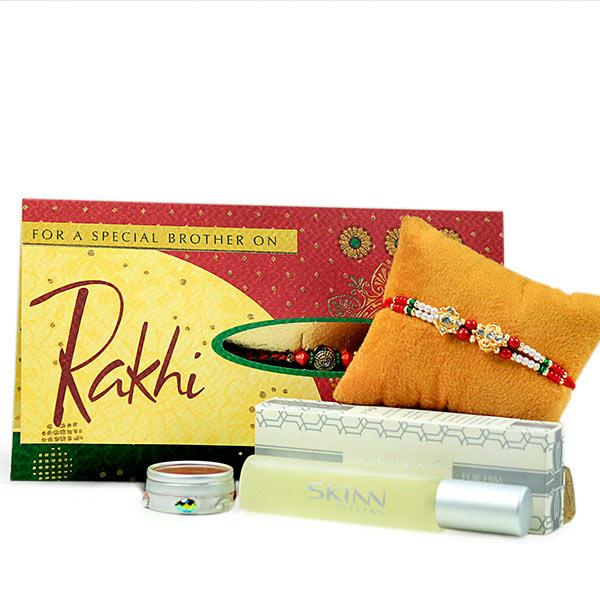 Skinn Titan Perfume n Traditional Rakhi