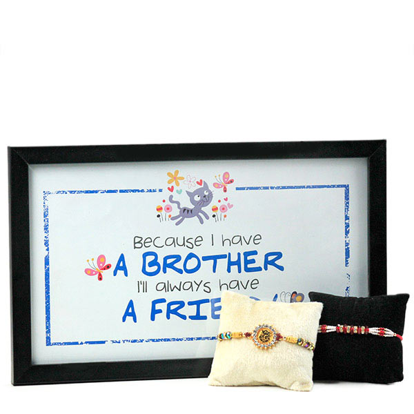 Traditional Rakhis n Desk Quotation Hamper