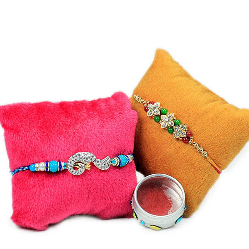 Set of 2 Embellished Rakhis