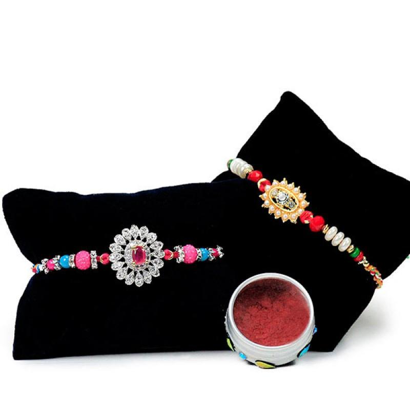 Embellished Floral Rakhi Set