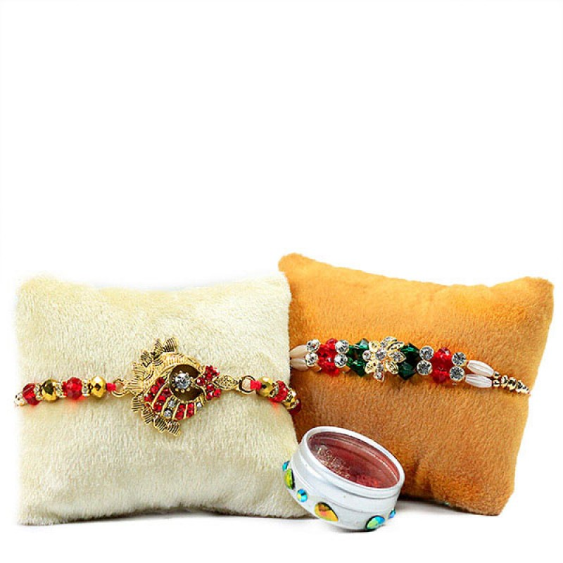 Beaded Traditional Rakhi Set