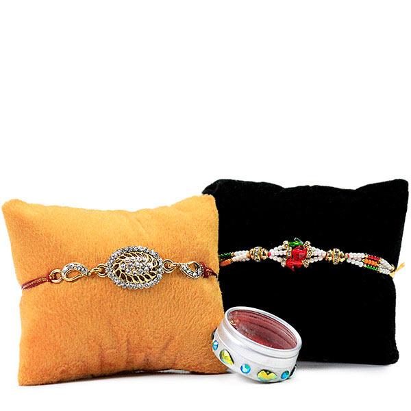 Set of 2 Beautiful Embellished Rakhis