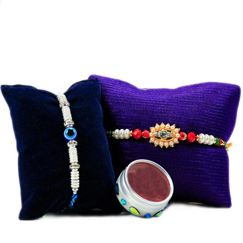 Traditional  Evil Eye Rakhi Set
