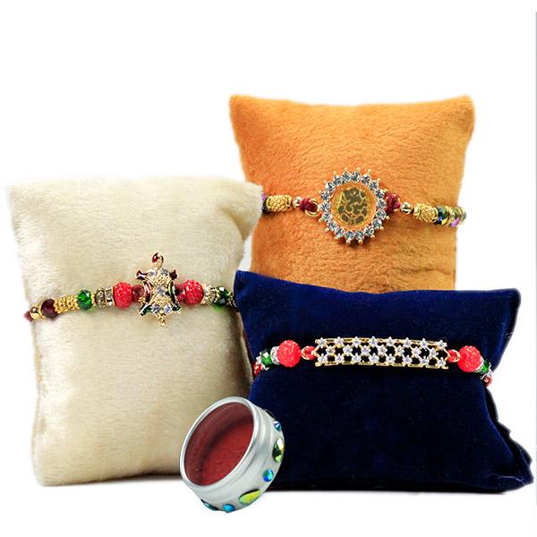 Set of 3 Traditional Rakhis