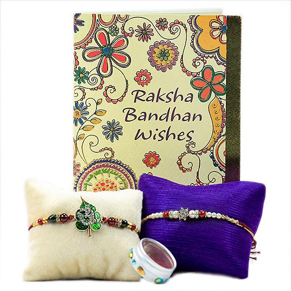 Traditional Rakhis with Card