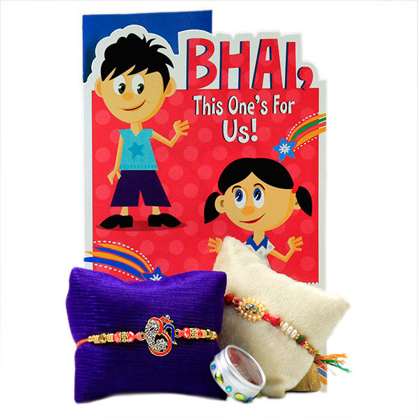 Traditional Rakhi Set with Card