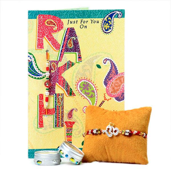 Beautiful Om Rakhi with Card