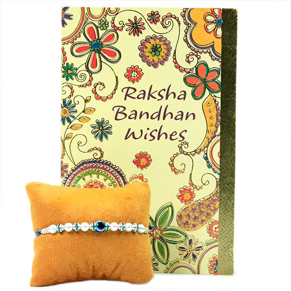 Beaded Evil Eye Rakhi n Card