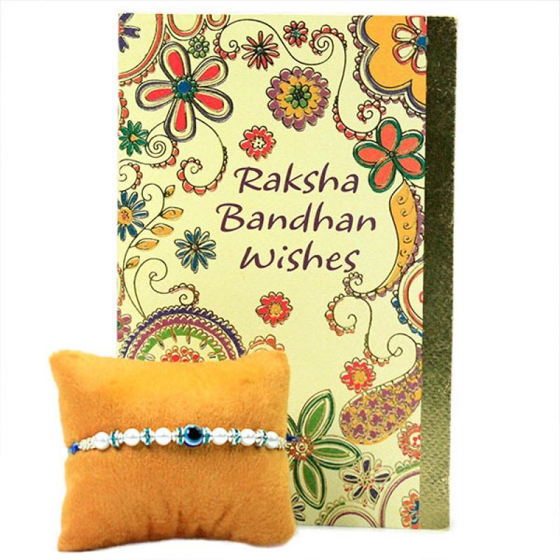 Beaded Evil Eye Rakhi n Card