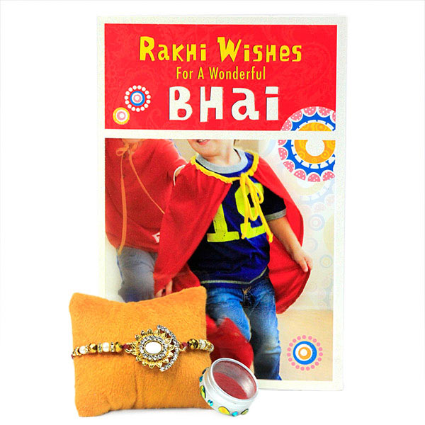 Rakhi Wishes Card n Traditional Rakhi
