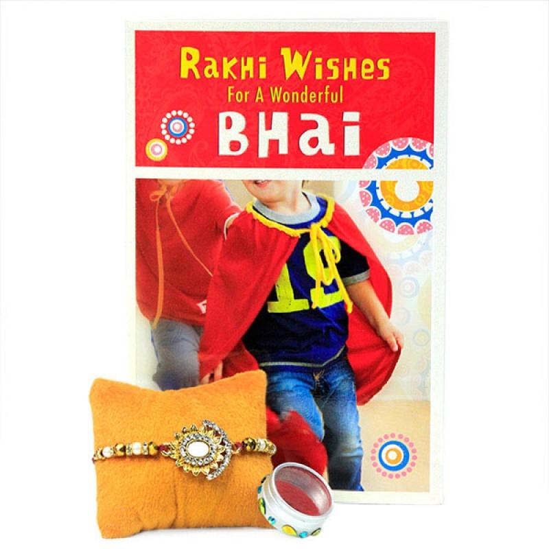Rakhi Wishes Card n Traditional Rakhi