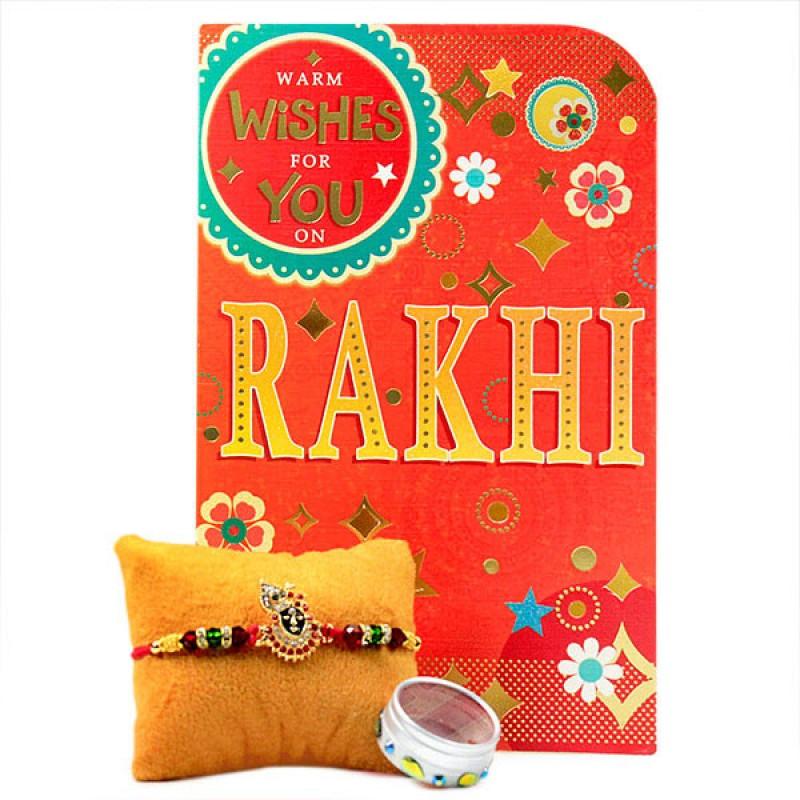Lord Krishna Rakhi with Card
