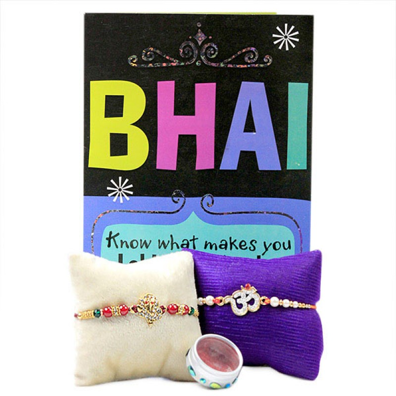 Traditional Rakhis n Greeting Card