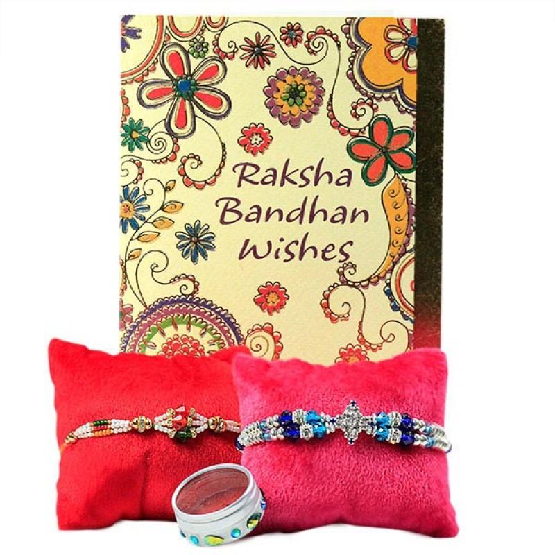 Beautiful Rakhis n Greeting Card