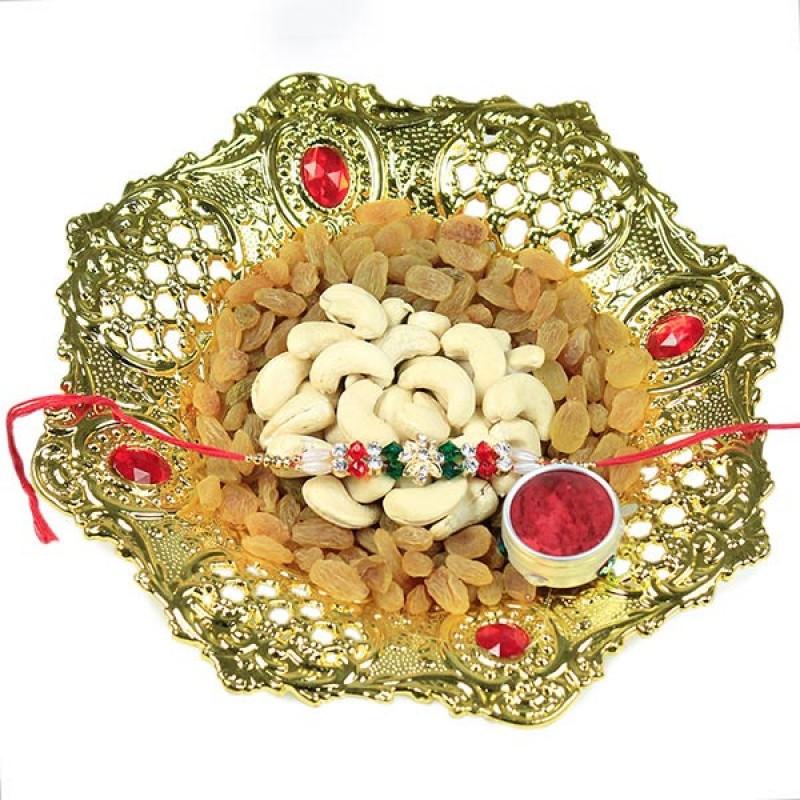 Dryfruits n Traditional Rakhi Hamper