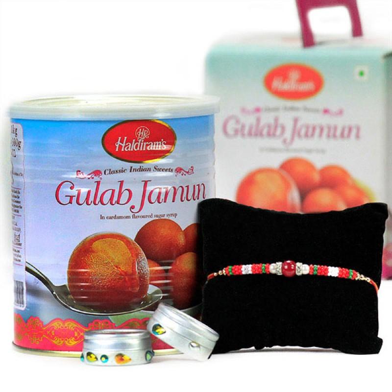 Gulab Jamun n Traditional Rakhi Hamper