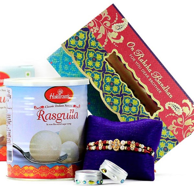Rasgulla n Traditional Rakhi Hamper
