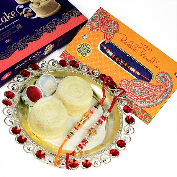 Soan Cake n Rakhis Hamper