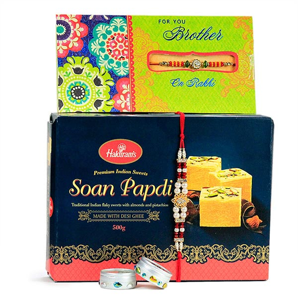 Soan Papdi n Traditional Rakhi Hamper