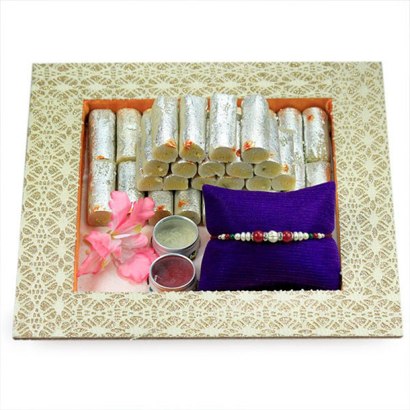 Kaju Roll n Beautiful Rakhi Hamper