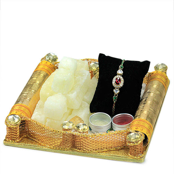 Dry Petha n Traditional Rakhi Hamper