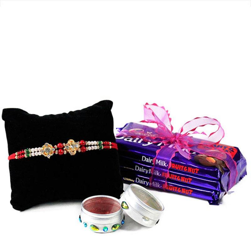 Chocolates n Beautiful Rakhi Hamper