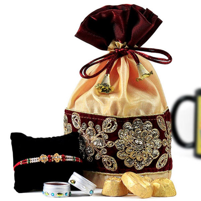 Handmade Chocolates n Rakhi Hamper