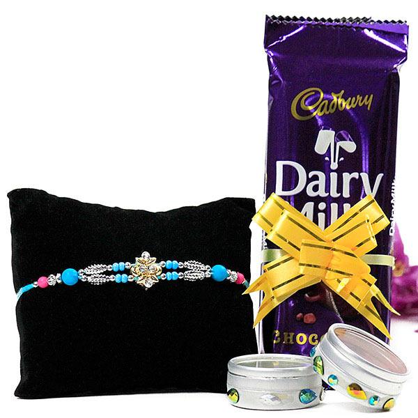Chocolates n Traditional Rakhi Gift Hamper