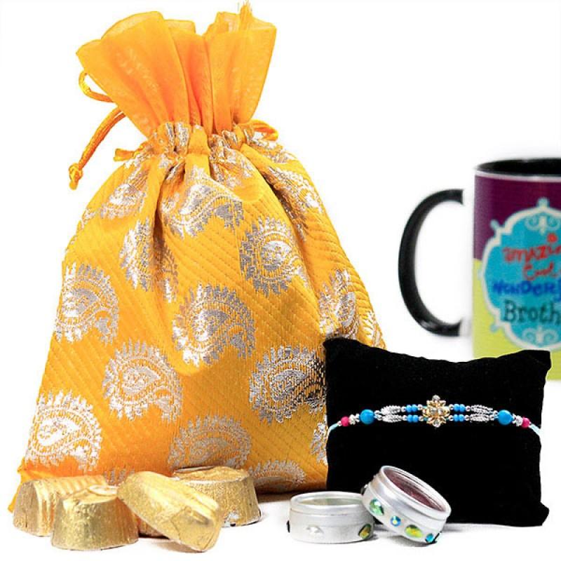 Handmade Chocolates with Beautiful Rakhi