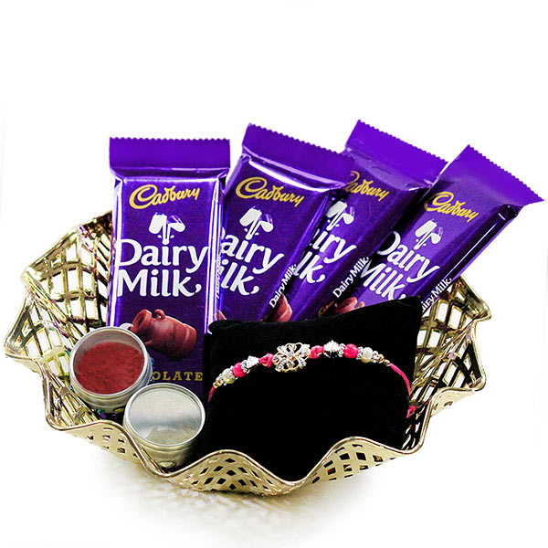 Chocolates n Traditional Rakhi Hamper