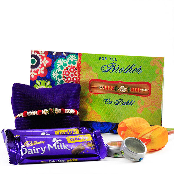 Rakhi n Chocolates Hamper For Bhai