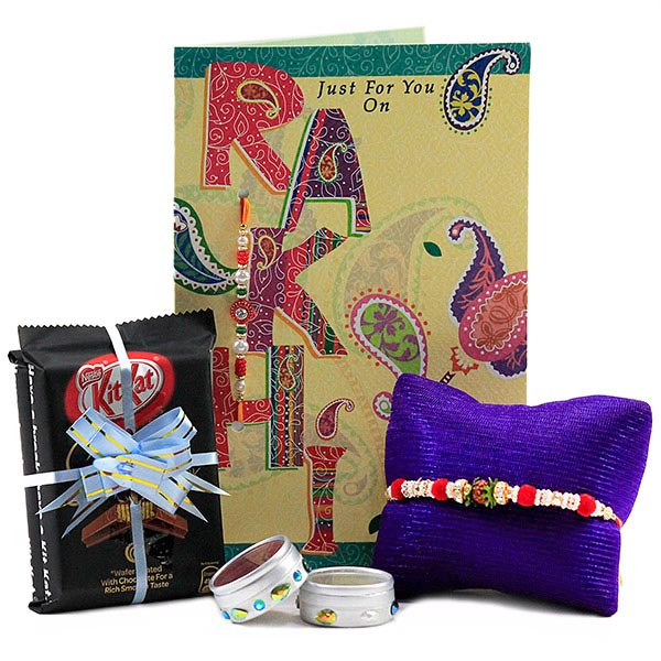 Rakhi n Sumptuous Chocolates Hamper