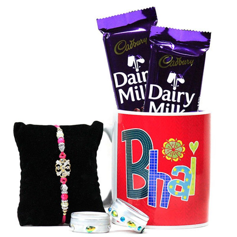 Chocolates n Rakhi Hamper For Bhai