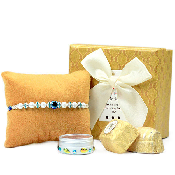 Evil Eye Rakhi n Chocolate Box Hamper