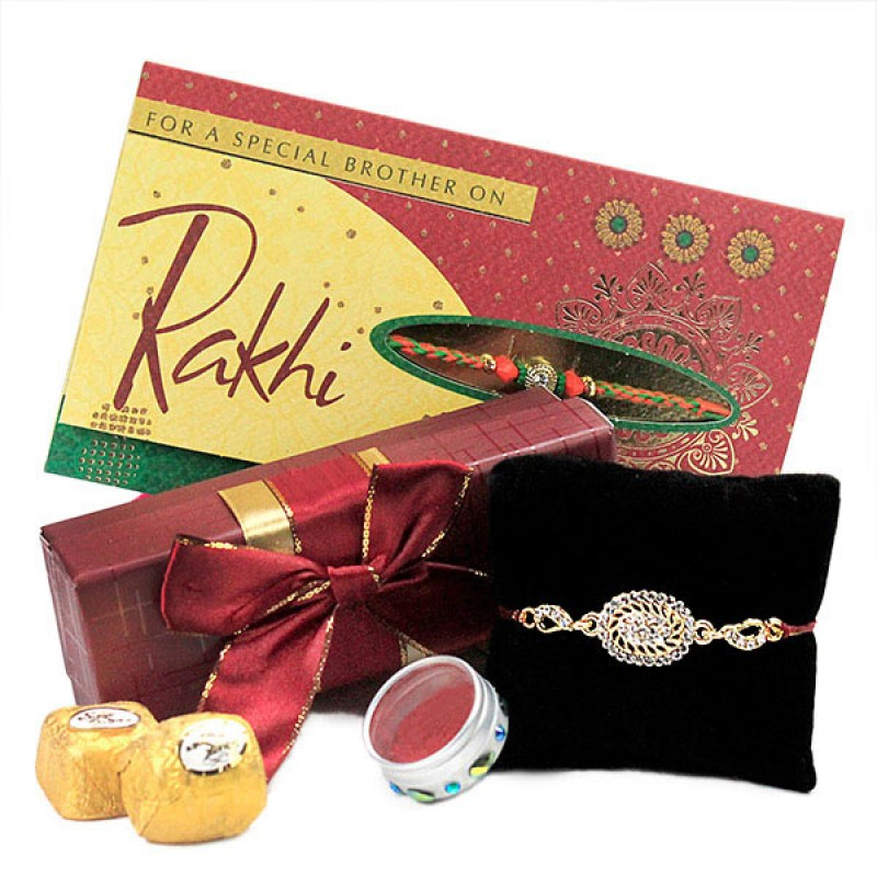 Elegant Rakhi n Chocolates Hamper
