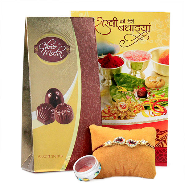 Choco Mocha Rakhi Wishes Hamper