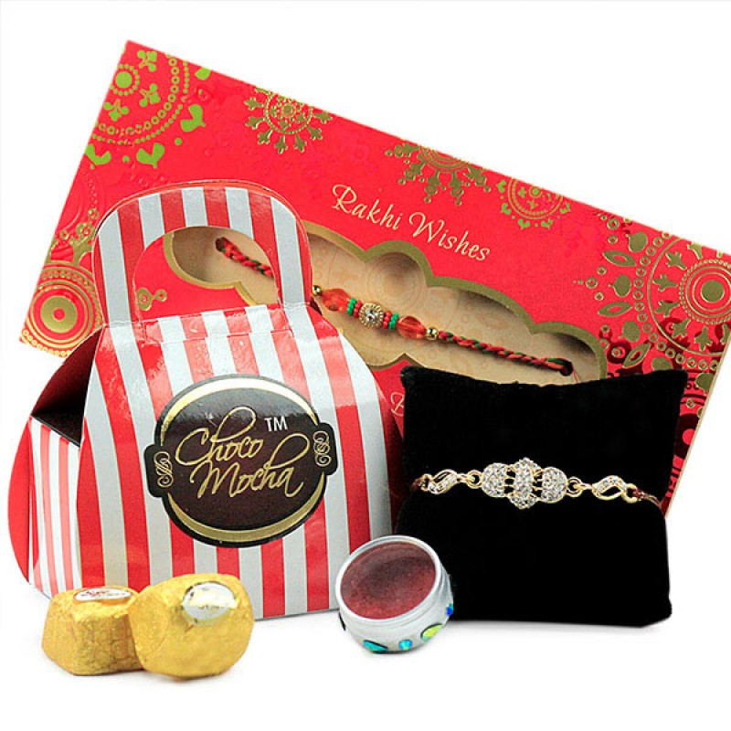 Choco Mocha n Beautiful Rakhi Hamper