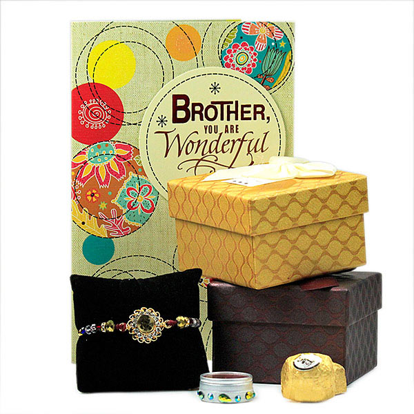 Sumptuous Chocolates n Traditional Rakhi Hamper