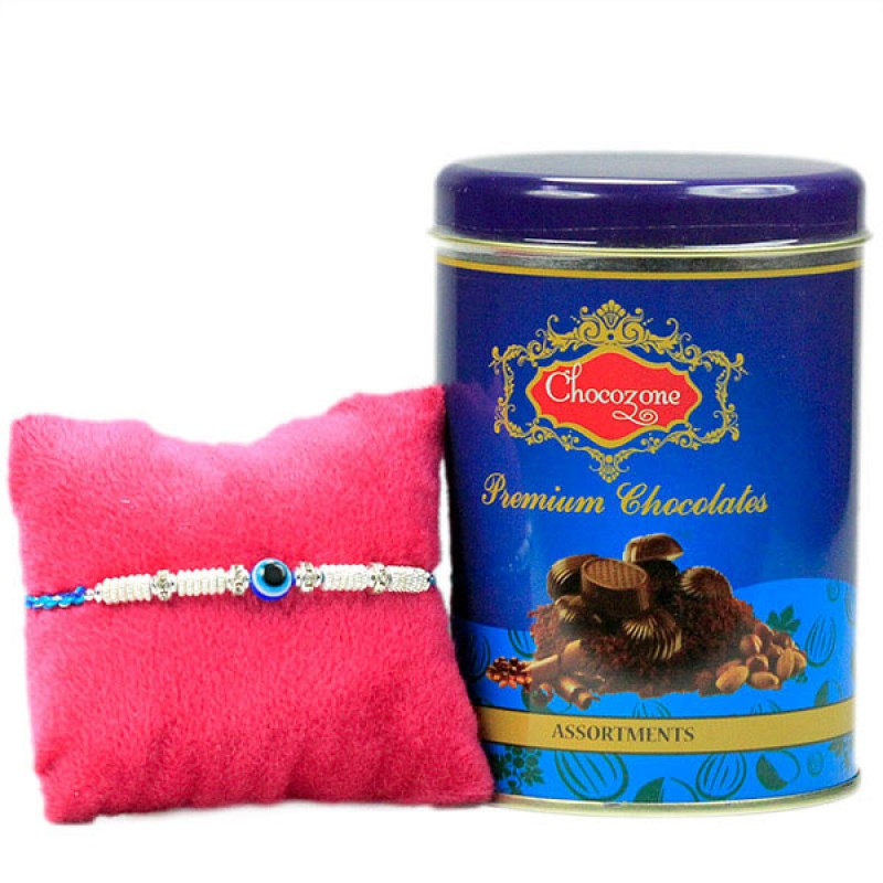 Evil Eye Rakhi n Chocolates Hamper