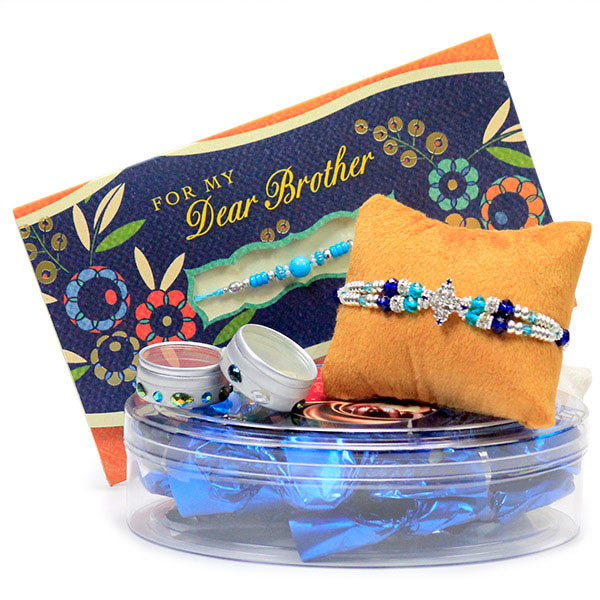 Traditional Rakhi n Chocolates Hamper