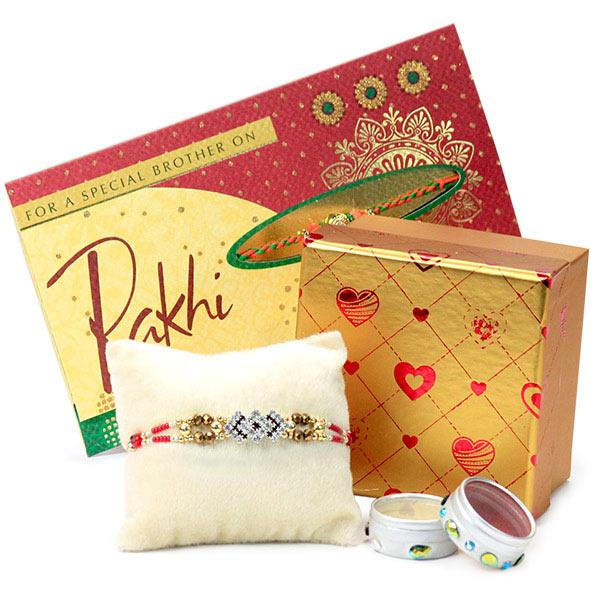Beautiful Rakhi n Chocolates Hamper