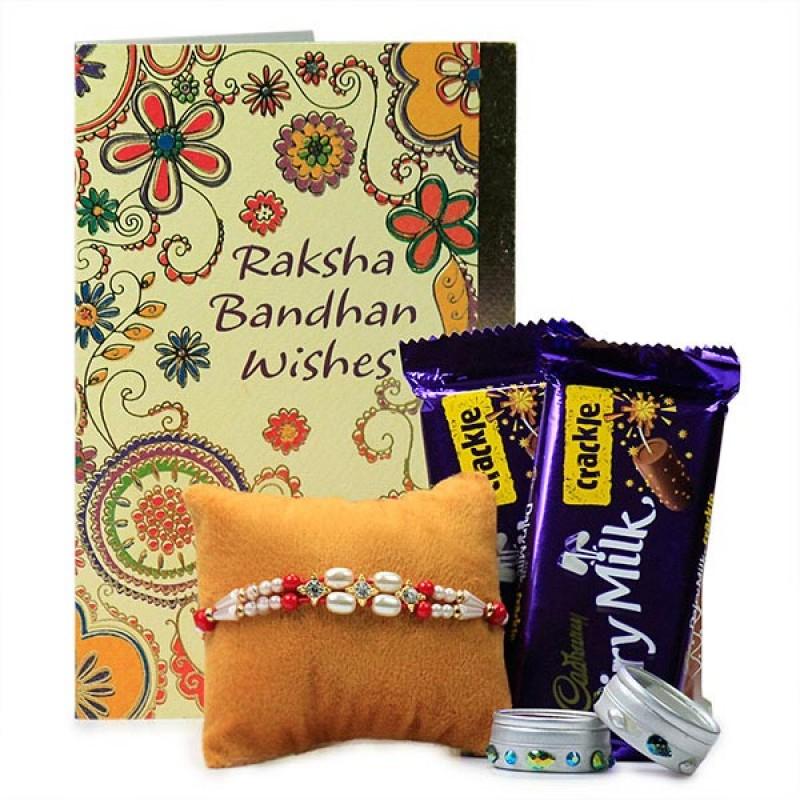 Beaded Rakhi with Chocolates