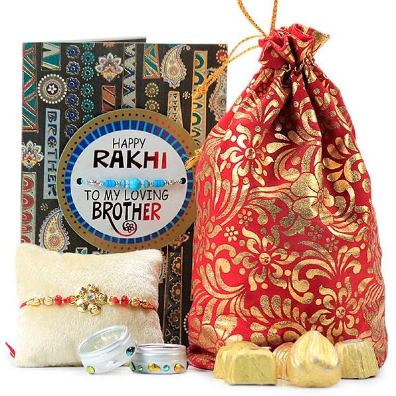 Floral Rakhi n Handmade Chocolates