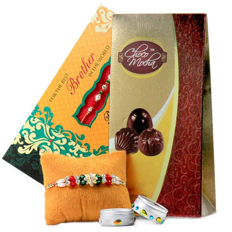 Traditional Rakhi n Choco Mocha Hamper