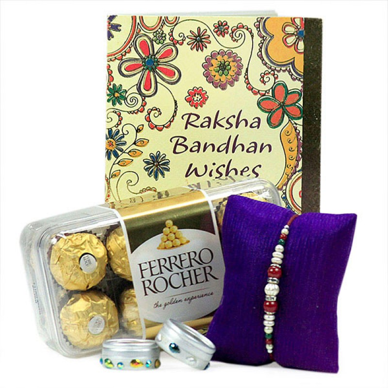 Ferrero Rocher with Beautiful Rakhi