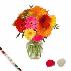 Colorful Gerberas with Rakhi