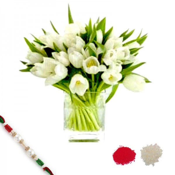 Tulips with Rakhi