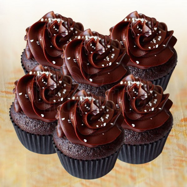 Set of 4 Chocolate Cupcakes