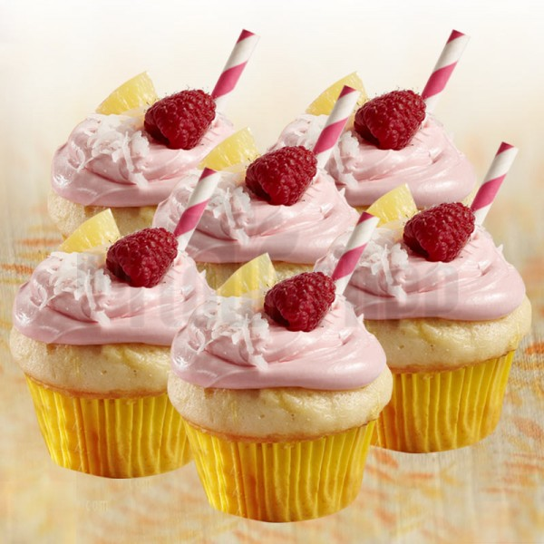 Set of 4 Pineapple Berry Cupcakes